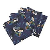 Roostery Fantasy Linen Cotton Dinner Napkins Night Meditation by Unseen Gallery Fabrics Set of 4 Cotton Dinner Napkins made by