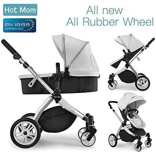 Multi cochecito 2 en 1 Carrito Bebe Hot Mom silla de paseo el capazo se convierte facilmente en una silla y viceversa 2020 estilo de vida 889, Asiento para bebe vendido por separado -