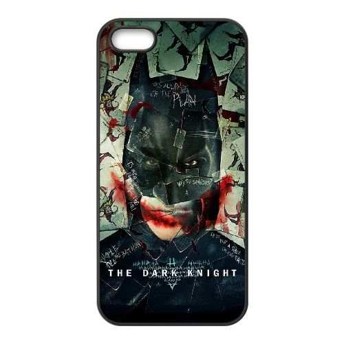 Dark Knight Cards coque iPhone 4 4S cellulaire cas coque de téléphone cas téléphone cellulaire noir couvercle EEEXLKNBC24417