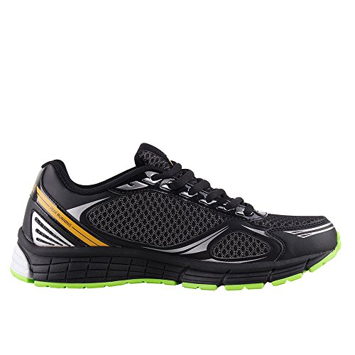 PEAK-Mens-Womens-Breathable-Sports-Running-Shoes-BlackGreen-Men-Size-US7