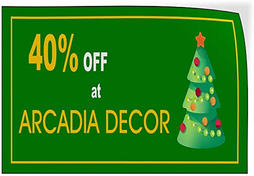 Custom Door Decals Vinyl Stickers Multiple Sizes Percentage Off Arcadia Decor Red Business Arcadia D Cor Outdoor Luggage /& Bumper Stickers for Cars Red 14X10Inches Set of 10