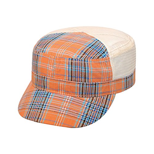 Hats & Caps Shop Fashion Plaid Army Cap - By TheTargetBuys | (ORANGE) (Electric New Era Hat compare prices)