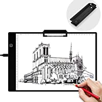 Light Box, Beiwas A4 LED Tracing Light Pad with Paper Clip Light Drawing Box USB Power Artcraft Light Table for Artists Drawing Sketching Animation Designing Stencilling
