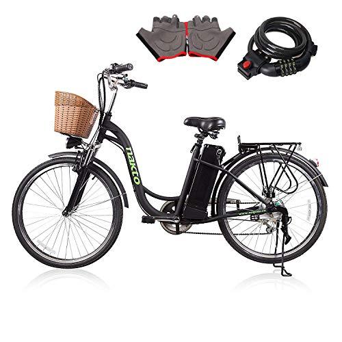 NAKTO Fat Tire Electric Mountain Bike