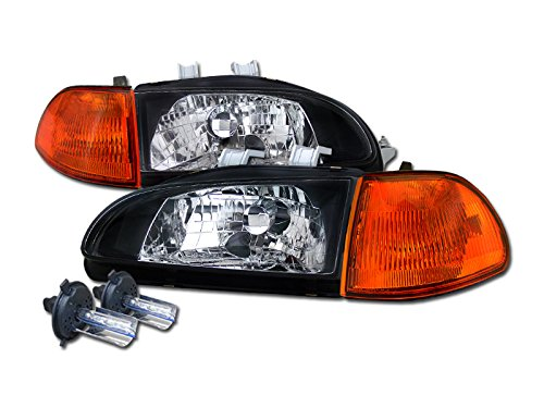 Civic 4d Projector Headlights - 8