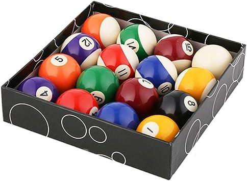 WXH Reglamento de Billar/Bolas de Billar, Juego de Bolas de Billar Profesional de Primera Calidad, Juego Completo de 16 Bolas, Estilo de número de Arte, para Juegos de Partido en Interiores: Amazon.es: