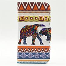 S5 Case, Galaxy S5 Case, GOODTONY [Wallet Function] The unique design PU Leather Wallet Stand Flip Case Cover for Samsung Galaxy S5 (Elephant)