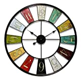 """Infinity Instruments UPTOP Wall Clock, 32"""", Multcolored"""