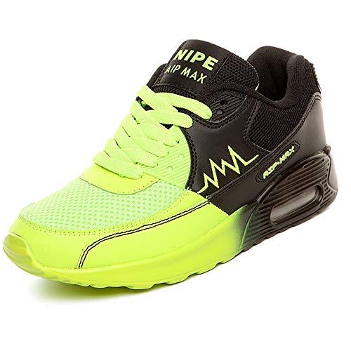ZHZNVX Zapatos de Mujer PU (Poliuretano) Primavera/Otoño Comodidad Zapatos Deportivos Tacón Plano Naranja/Verde / Azul Green