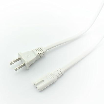 Tremendous Amazon Com Longdex 2 Pack Us Ac Power Cord 2 Prong Plug Figure 8 Wiring Digital Resources Remcakbiperorg