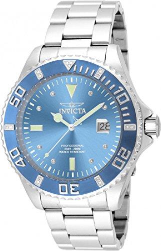 (Invicta 17310 47mm Pro Diver Quartz Diamond Accented Stainless Steel Bracelet Watch)