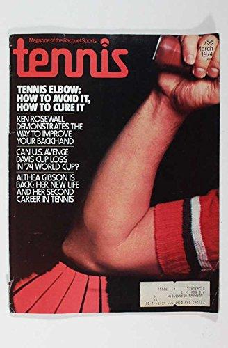 MARCH 1974 TENNIS MAGAZINE HOW TO AVOID TENNIS ELBOW KEN ROSEWALL 74 WORLD (1974 Football World Cup)