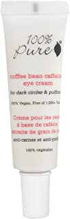 product image for 100% Pure: Organic Coffee Bean Caffeine Eye Cream, 1 oz, Anti-Inflammatory, Brightens Dark Circles, Concentrated with Potent Anti-Aging Vitamins, Antioxidants, and Nourishing Rosehip Oil