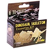 New Set of 6 Dinosaur Skeleton Excavation Kits Dig and Discover PUCK Set of 6 including Tyrannosaurus, Spinosaurus, Deinonychus, Triceratops, Seismosaurus or Stegoceras