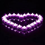 Sunbowstar 36PCS Submersible Battery LED Lights White Wedding Tea Lights Purple