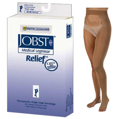Relief 30-40 mmHg Single Leg Open Toe Chap Size: Large, Leg: Left