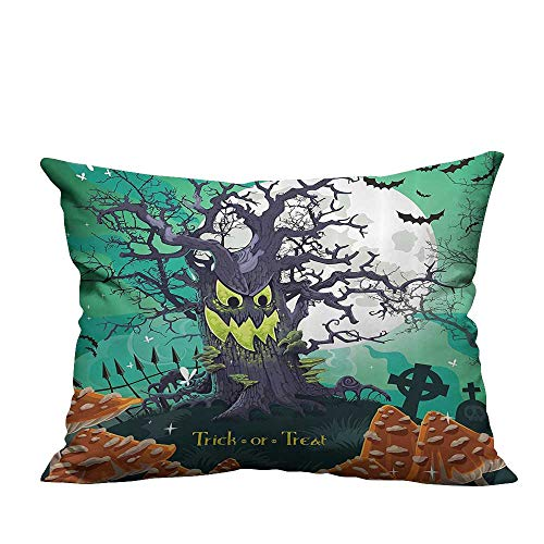 YouXianHome Zippered Pillow Covers Trick or Treat Halloween