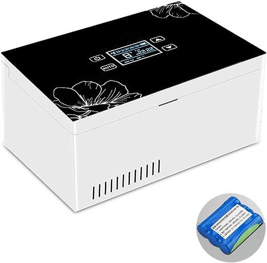 LJJLJJLJJLJJ Estuche de Viaje con Mini Refrigerador,Refrigerador portátil de insulina,Refrigerador de refrigerador para medicamentos,Caja refrigerada de insulina,Caja de refrigerador de insulina,A: Amazon.es: Jardín