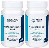 Klaire Labs Vital-Dophilus Plus Probiotic - 5 Billion CFU Lactobacillus acidophilus & rhamnosus for Kids, Men & Women, Hypoallergenic & Dairy-Free (100 Capsules / 2 Pack)