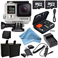GoPro HERO4 Silver Edition Action Camera Camcorder with Accessory Bundle