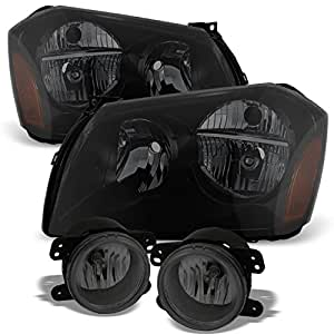 Amazon Com For Dodge Magnum Black Smoked Headlights Front