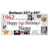 1962 DELUXE PERSONALIZED BANNER by Partypro