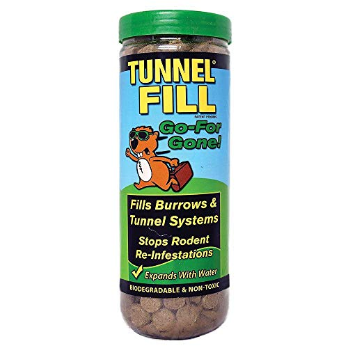 Wonder Soil Tunnel Wonder Soil Gopher Control Tunnel Fill Tube - Patented Expanding Solution to Fill Tunnels dug by Gophers, Moles, Voles, and Other Rodents (1.5lb)