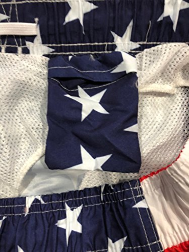 4436fb87f57c9 UZZI Men's Patriotic USA American Flag Swim Trunks | Weshop Vietnam