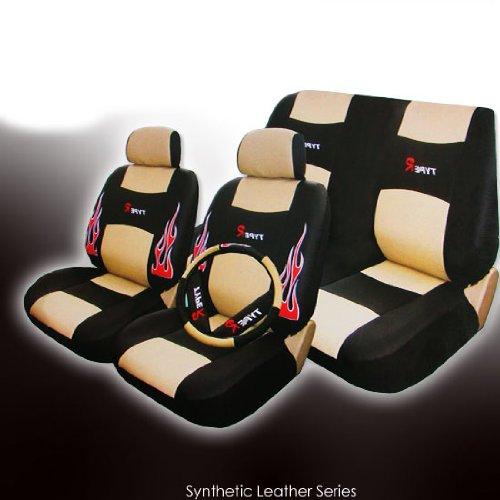 Car Flames Designs Red Flame Design Car Seat