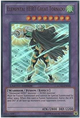Yu Gi Oh Elemental Hero Great Tornado Lc02 En010 Legendary Collection 2 Limited Edition Ultra Rare Single Cards Amazon Canada