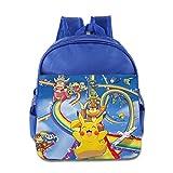 Toddler Kids Pokemon Pikachu School Backpack Cute Baby Children School Bags RoyalBlue
