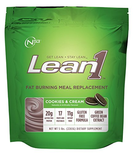 (Lean 1 (Cookies & Cream, 38 Servings): Fat-Burning Whey Protein Isolate Meal Replacement, Protein Shake & Appetite Suppressant by Nutrition 53)