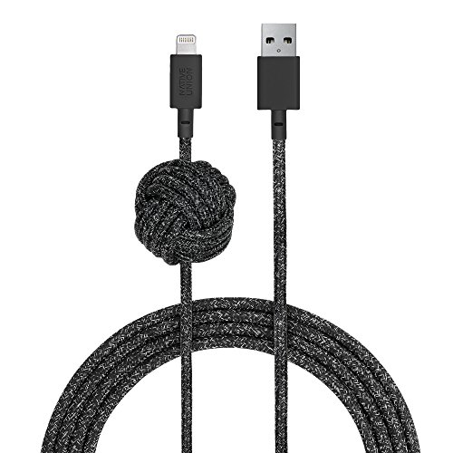 Native Union Night Cable - 10ft Ultra-Strong Reinforced [Apple MFi Certified] Durable Lightning to ...