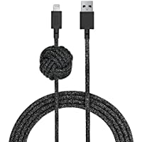Native Union NIGHT Cable - 10ft Ultra-Strong Reinforced [Apple MFi Certified] iPhone / iPad Lightning to USB Charging Cable with Weighted Knot (Cosmos)