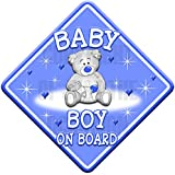 TEDDY CLOUD BABY BOY Non personalised novelty car sign