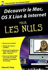 Découvrir le Mac OS X Lion pour les nuls par Edward C. Baig