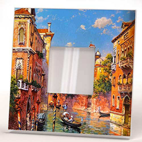 Venezia Italy Venice Cityscape Water Canal Wall Framed Mirror Printed Decor Art Home Design ()