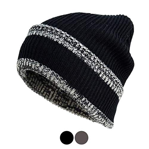 Image Unavailable. Image not available for. Color  Heavy Duty Winter  Outdoor Striped Beanie Hat ... de62f66ee0b