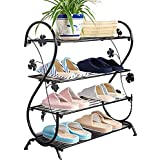 10 Pair Wrought Iron Wellington Boot Stand Welly Rack