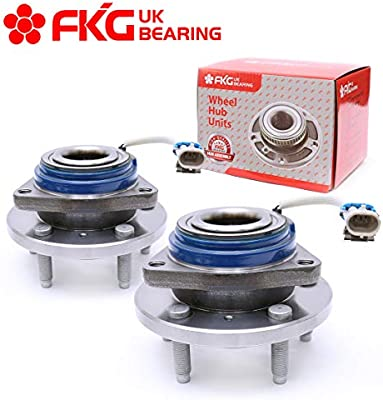 HICKS 513188x2 Front Wheel Bearing Hub and Bearing Assembly for 2002-2009 GMC Chevy with ABS 6 Lug
