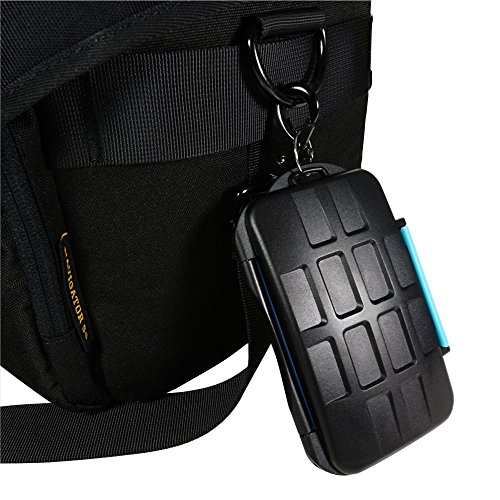 VONOTO Professional Memory Card Case WaterProof MC-2 Stores for 4 CF Cards or 8 SD Cards