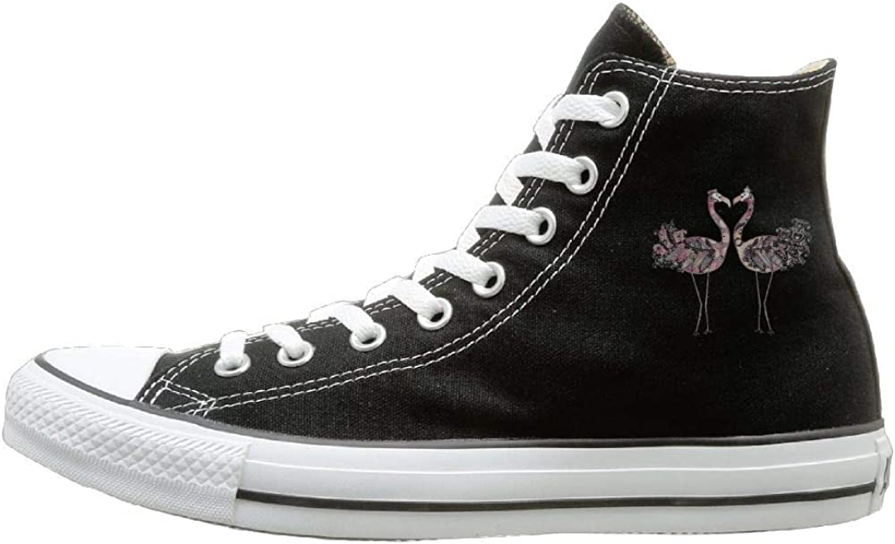 Sakanpo Art Bird Canvas Shoes High Top Design Black Sneakers Unisex Style