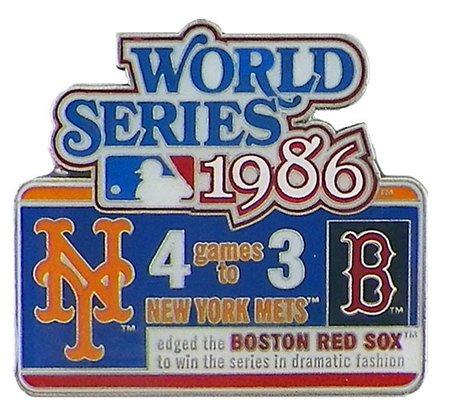Classic Pins 1986 MLB World Series History Pin - Limited Edition 1,000 ()