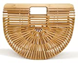 Women Bamboo Purse Handmade Handbag Tote Bag