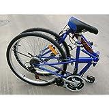 "Columba 26"" Folding Bike w. Shimano 18 Speed Blue (SP26S_BLU)"