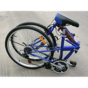 Columba 26 Folding Bike w. Shimano 18 Speed Blue (SP26S_BLU)
