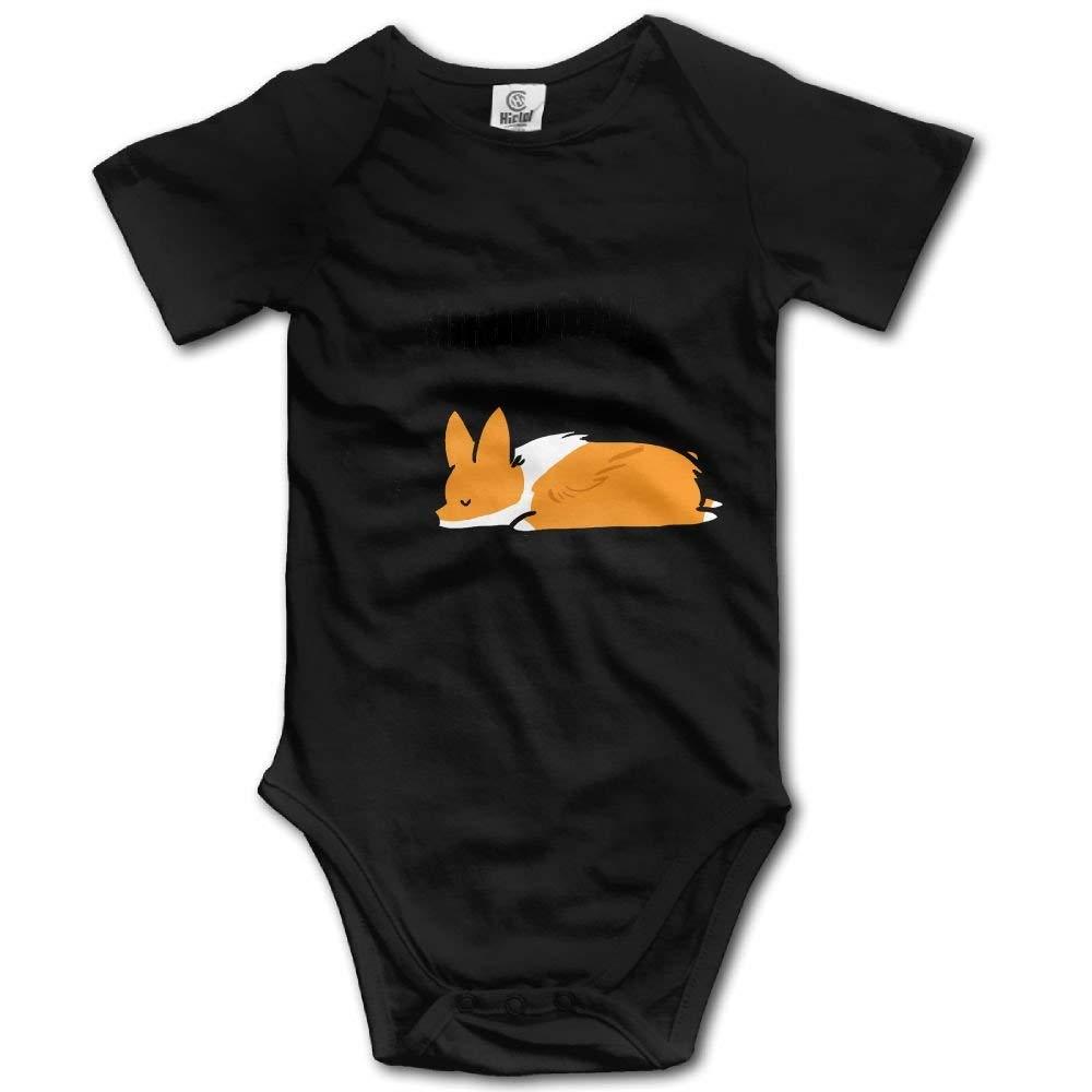 Corgi Weekend Plans Newborn Baby Sleeveless Jumpsuit Romper