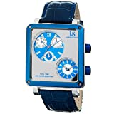 Joshua and Sons Men's JS-30-03 Duel Time Multi Function Watch, Watch Central
