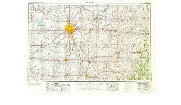 Amazon.com : YellowMaps Wichita KS topo map, 1:250000 Scale ... on pawnee county oklahoma map, kiwanis park map, pawnee oklahoma street map,