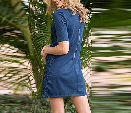 EMIN Damen Partykleid Sexy Summer Top Sommer Strandkleid Hipster Abendkleid Lang Elegant Kleider Schwingen Rockabilly Pinup Ballkleid Partei Kleid